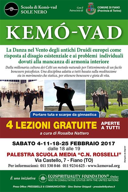 Kemò-vad: 4 lezioni gratuite - da sabato 4 febbraio 2017 - Fiano Palestra C.N. Rosselli